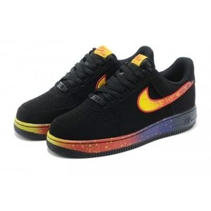 Men's Nike Air Force One Low Asteroid Shoes Black